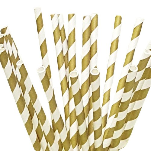 Beauty Acrylic 100 Piece Paper Straws (Set of 100)
