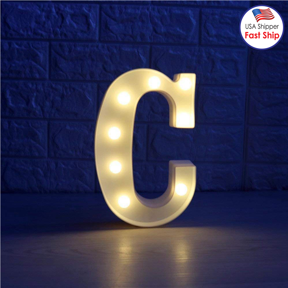 Decorative LED Illuminated Letter Marquee Sign Alphabet Marquee Letters with Lights For Wedding Birthday Party Christmas... by