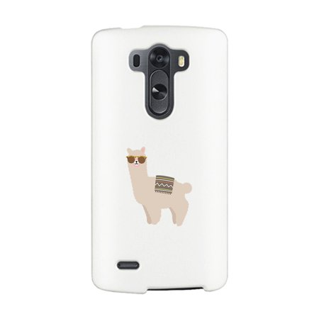 Llamas Sunglasses-Right White LG G3 Phone Case Cute Friends (Best Phone Case For Lg G3)