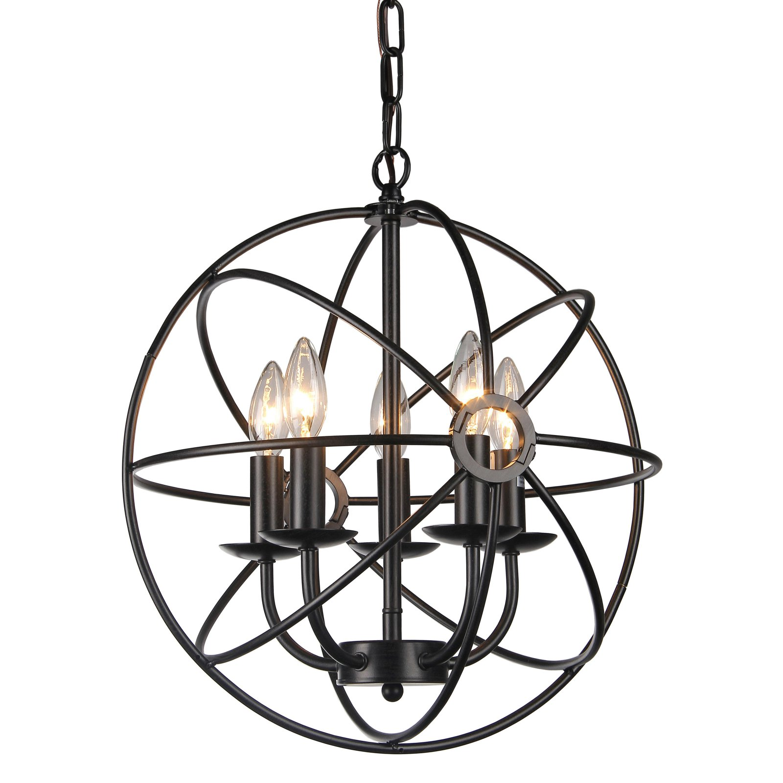 Warehouse of Tiffany Theo 5 Light Candle Chandelier by Supplier Generic