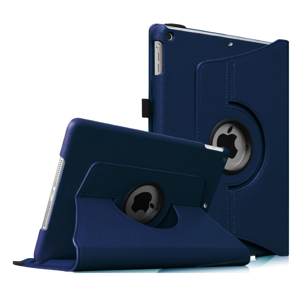 iPad mini 3 / iPad mini 2 / iPad mini Rotating Case - Fintie Multi-Angle Stand Smart Cover with Auto Sleep/Wake, Navy