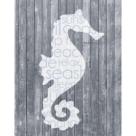 Seahorse Wood Panel Poster Print by Lauren Gibbons (22 x (Wally Woods 22 Panels That Always Work)