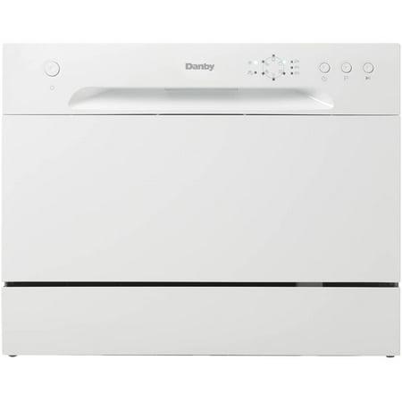 Danby Delay Start Countertop Dishwasher 6 Place Setting, White