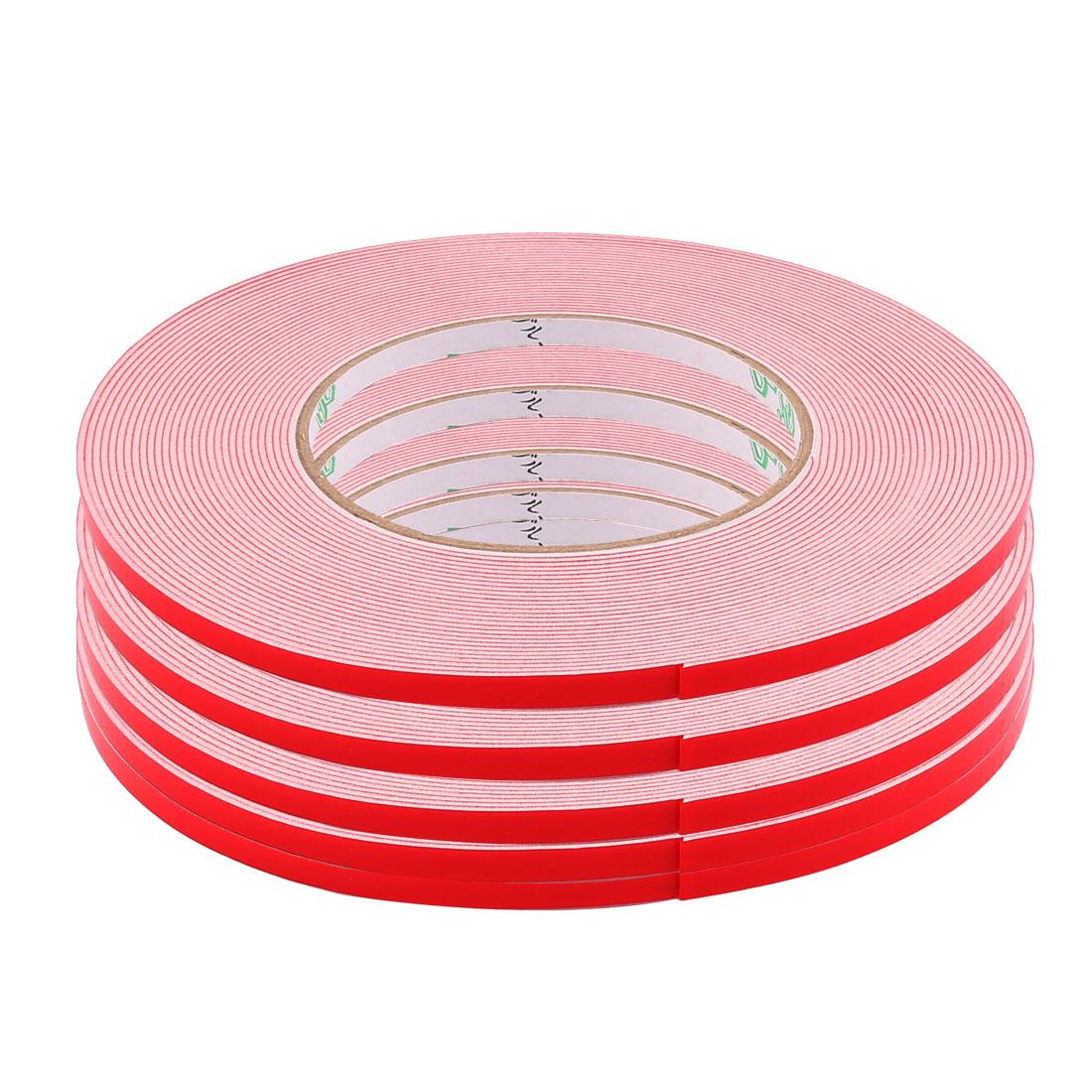 5 Pcs 5x1mm Dual Sided Sponge Tape Adhesive Sticker Foam Glue Strip Sealing 10M