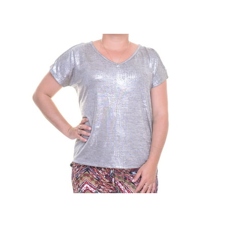 50l Suit - INC International Concepts Petite Metallic Cold-Shoulder Top Size PP