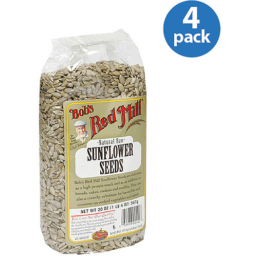 Bob's Red Mill Natural Raw Sunflower Seeds, 20 oz (Pack of 4)