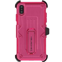 Ghostek Iron Armor Hybrid Shockproof Case with Kickstand Designed for iPhone Xs Max - Pink