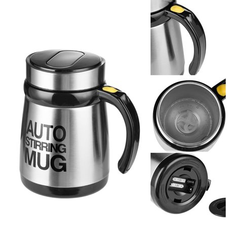 Automatic Coffee Stirring Mug Electric Milkshake Cup Grain Powder Mixing Cup Shaker - image 7 de 9