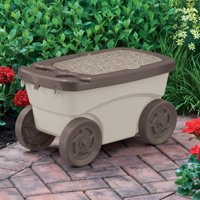 Suncast Outdoor Rolling Garden Scooter w/Wheels