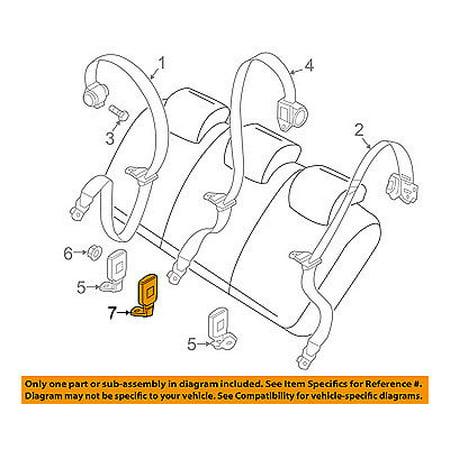 Ram CHRYSLER OEM ProMaster City Second Row Seat Belts-Center Buckle 5YH29LXHAA