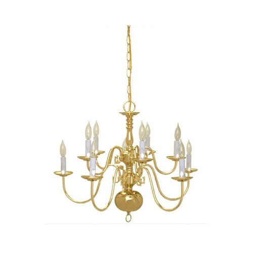 Thomas Lighting 10 Light Candle Chandelier