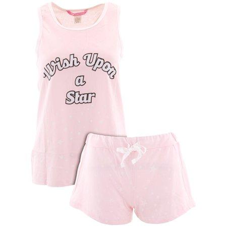 Love Loungewear Juniors Wish Upon A Star Pink Short - Onesies For Juniors