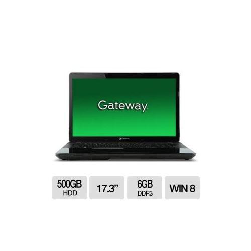 """Gateway NE72206u AMD A6 6GB Memory 500GB HDD 17.3"""" Notebook Windows 8"""