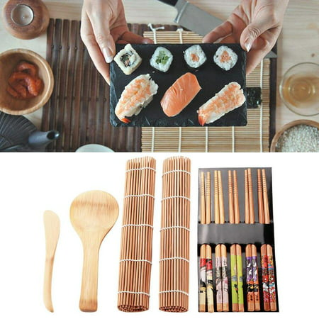 Sushi Lovers (Lv. life 13Pcs/set Bamboo Sushi Making Kit Family Office Party Homemade Sushi Gadget For Food Lovers, Sushi Making Kit, Sushi Tool )