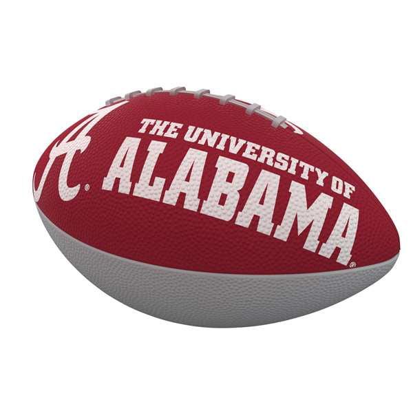 Alabama Combo Logo Junior-Size Rubber Football
