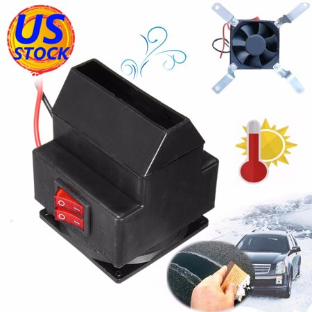 Adjustable 12v 300w 80℃ Dual Switchs Auto Car Mute Heating Fan Heater Windscreen Defroster Demister Color:black - image 4 of 12