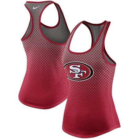 San Francisco 49ers Nike Women's New Day Tri-Blend Tank Top - Gray Nike Womens Sportswear