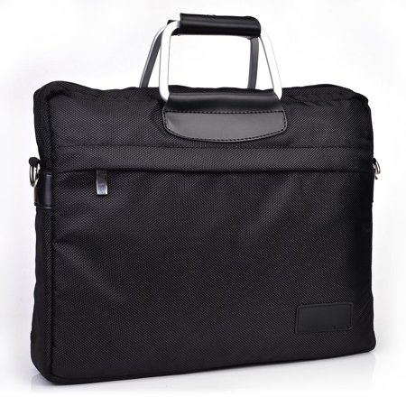 """12.3 """" Briefcase style Laptop carrying bag with two top handles and removable shoulder strap"""