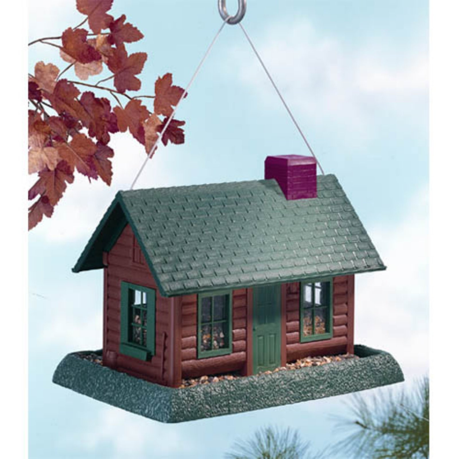 North States Log Cabin Village Collection Birdfeeder