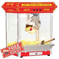 Funtime 8 oz Carnival Style Hot Oil Popcorn Maker Machine, Black