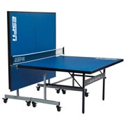 ESPN 2-Piece Official Size 15mm Quick Match Table Tennis Table, Indoor, Blue