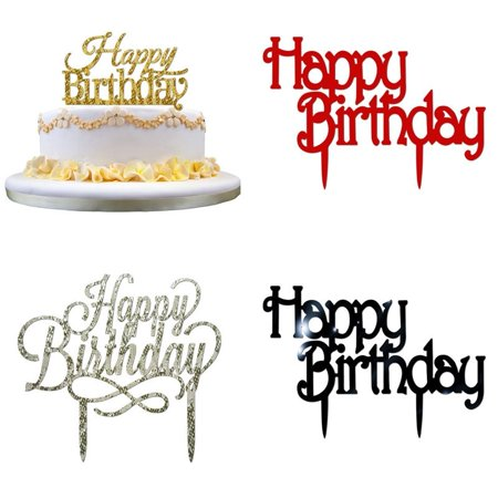 Birthday Cake Card Topper Happy Birthday Party Supplies Acrylic Fashion Decorations (Birthday Cake Black Forest)