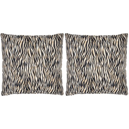 Safavieh Drake Zebra Cotton Throw Pillow (Set of 2) - Walmart.com