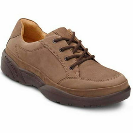 Justin Original Lace (Dr. Comfort Justin Men's Casual Shoe: 6.5 Medium (B/D) Chestnut Suede Lace )