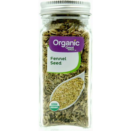 (2 Pack) Great Value Organic Fennel Seeds, 1.6 oz