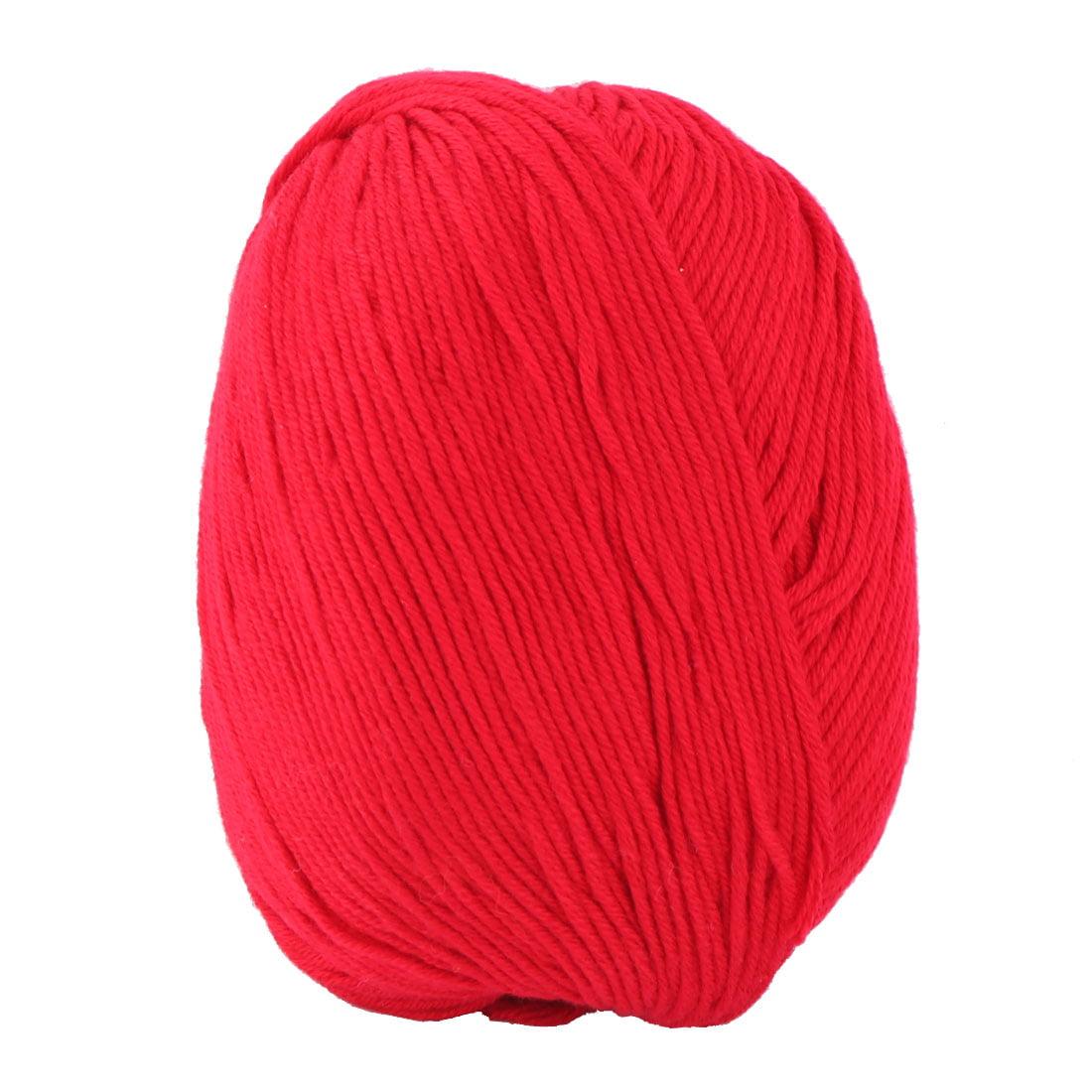 Acrylic Fiber Scarf Handicraft Gift Knitting Needle Weaving Yarn Dark Red 50g