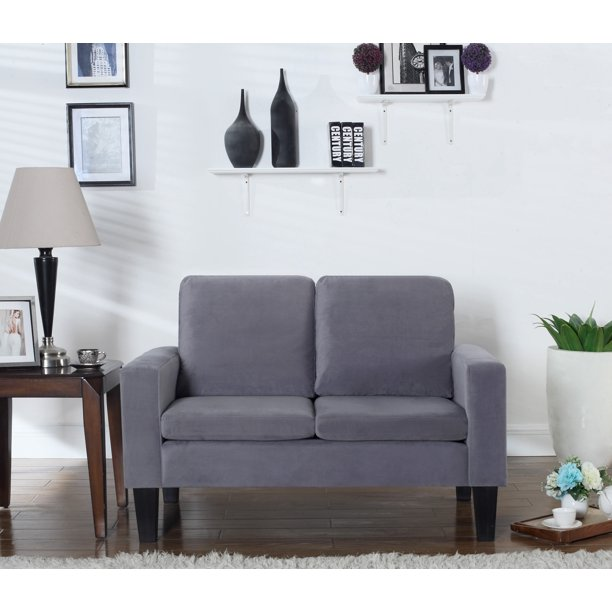 Leonel Signature Sarah Microfiber Loveseat, Multiple Colors