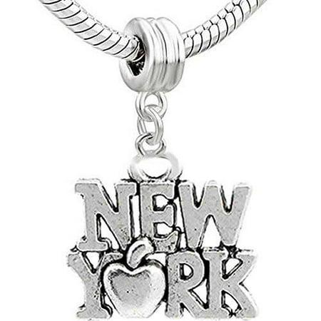 New York Bead Charm Spacer for Snake Chain Charm Bracelet