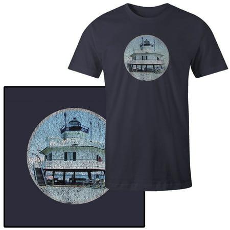 Maryland Lighthouses - Men's Hooper Strait Lighthouse St Michaels Maryland T-Shirt