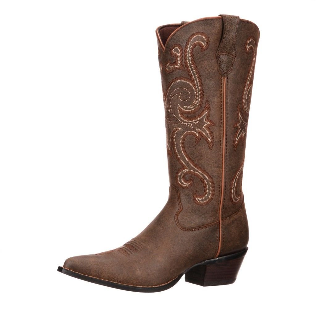 "Image of Durango Western Boots Womens 13"" Crush Jealousy High Brown RD3593"