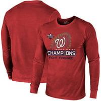 Washington Nationals Majestic Threads 2019 World Series Champions Locker Room Long Sleeve T-Shirt - Red