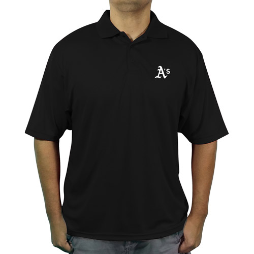 MLB Oakland A's Men's poly polo shirt