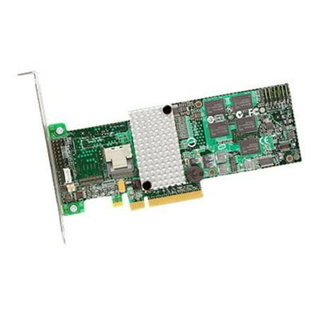 LSI LSI00197 LSI Logic LSI00197 4-Port SAS RAID Controller - 512MB DDR SDRAM - PCI Express x8 - 1 x SFF-8087 - Mini-SAS