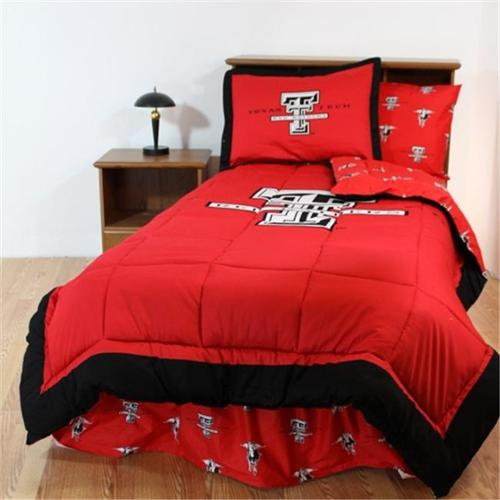 College Covers TTUBBTWW Texas Tech Bed in a Bag Twin- With White Sheets