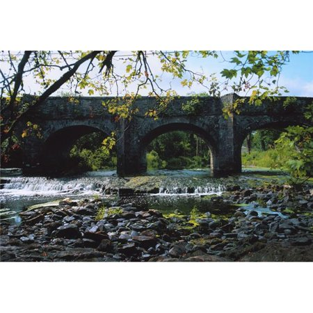Posterazzi DPI1804302 River Annalee Ballyhaise Co Cavan Ireland - Bridge Over A River Poster Print by The Irish Image Collection, 18 x 12 - image 1 of 1