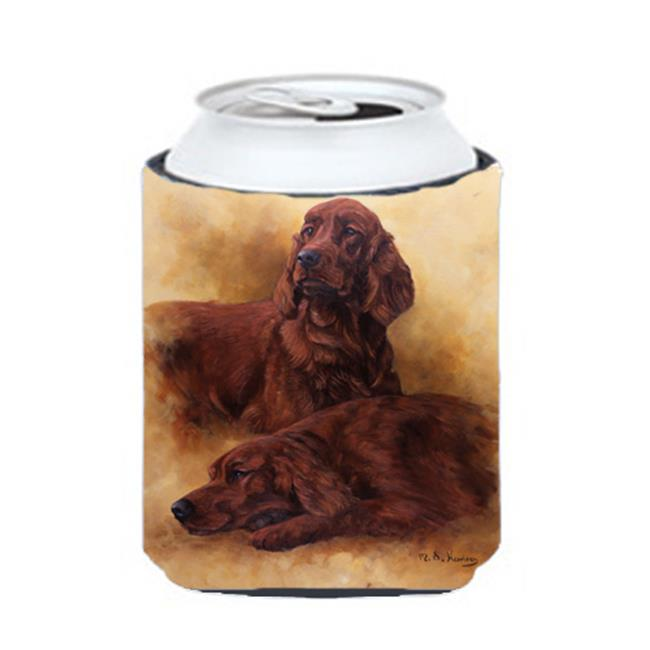 Carolines Treasures HMHE0181CC Red Irish Setters Portrait by Michael Herring Can or Bottle Hugger - image 1 de 1