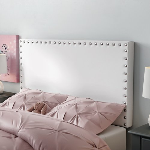 Wrought Studio Preiss Twin Upholstered Panel Headboard