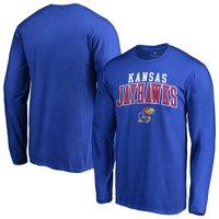 Kansas Jayhawks Fanatics Branded Team Logo Square Up Long Sleeve T-Shirt - Royal