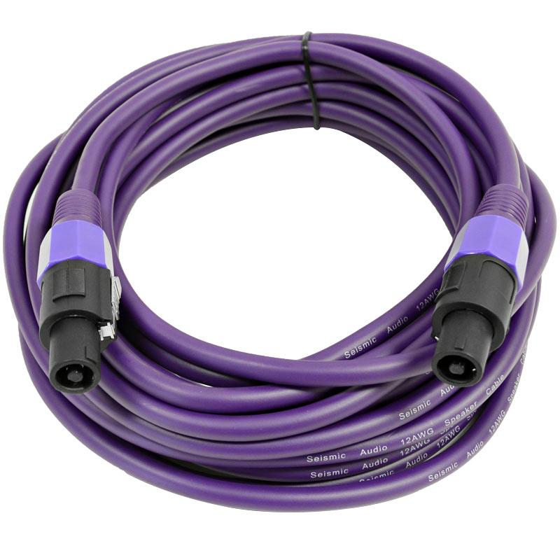 Seismic Audio  12 Gauge 35 Foot Purple Speakon to Speakon Speaker Cable 35' Purple - TW12S35Purple