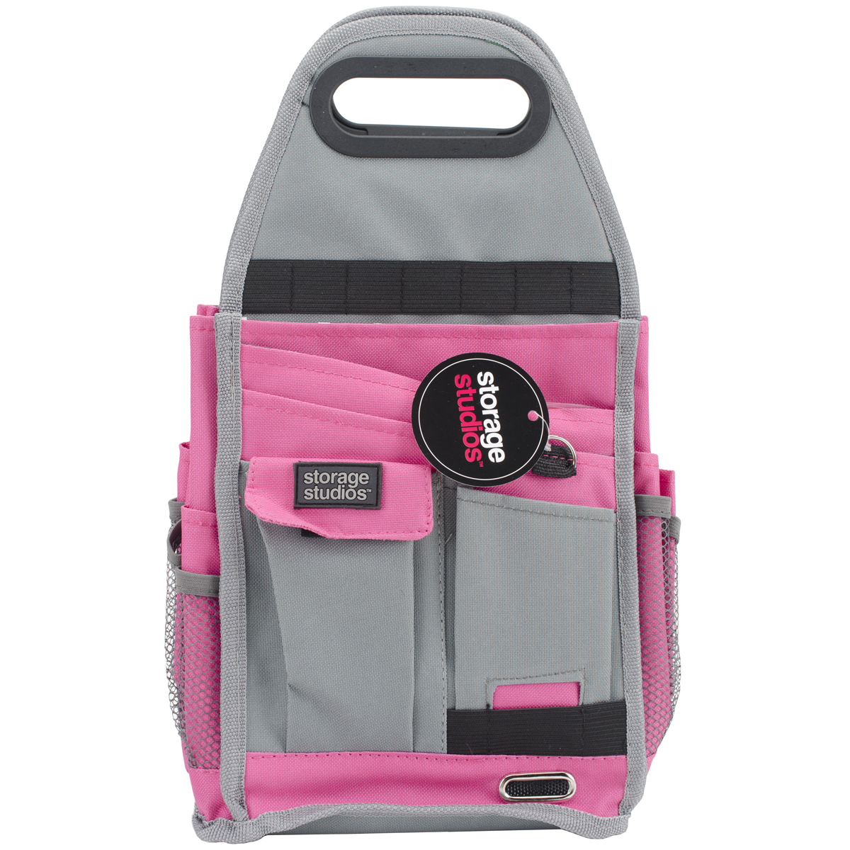 "Storage Studios Spinning Craft Tote-7.25""X7.75""X15"", Pink & Gray"