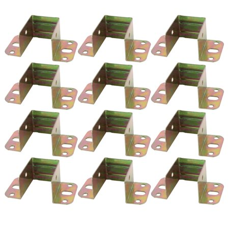Furniture Metal Bed Corner Angle Supporter Bracket Rack 80mm x 43mm x 31mm 12pcs