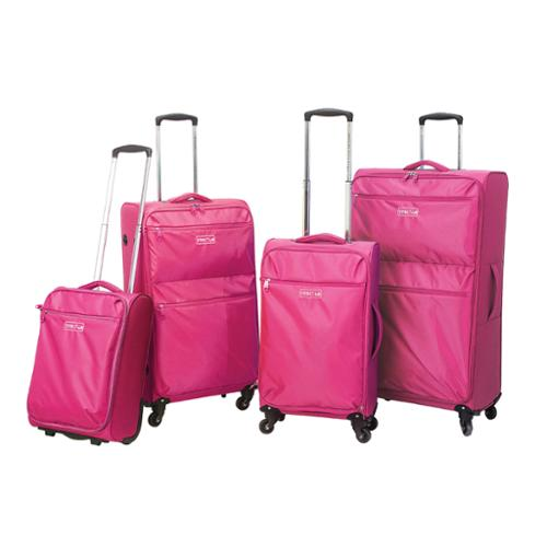 Traveler's Club Cloud 4-piece Super-Lite Spinner Luggage Set Pink