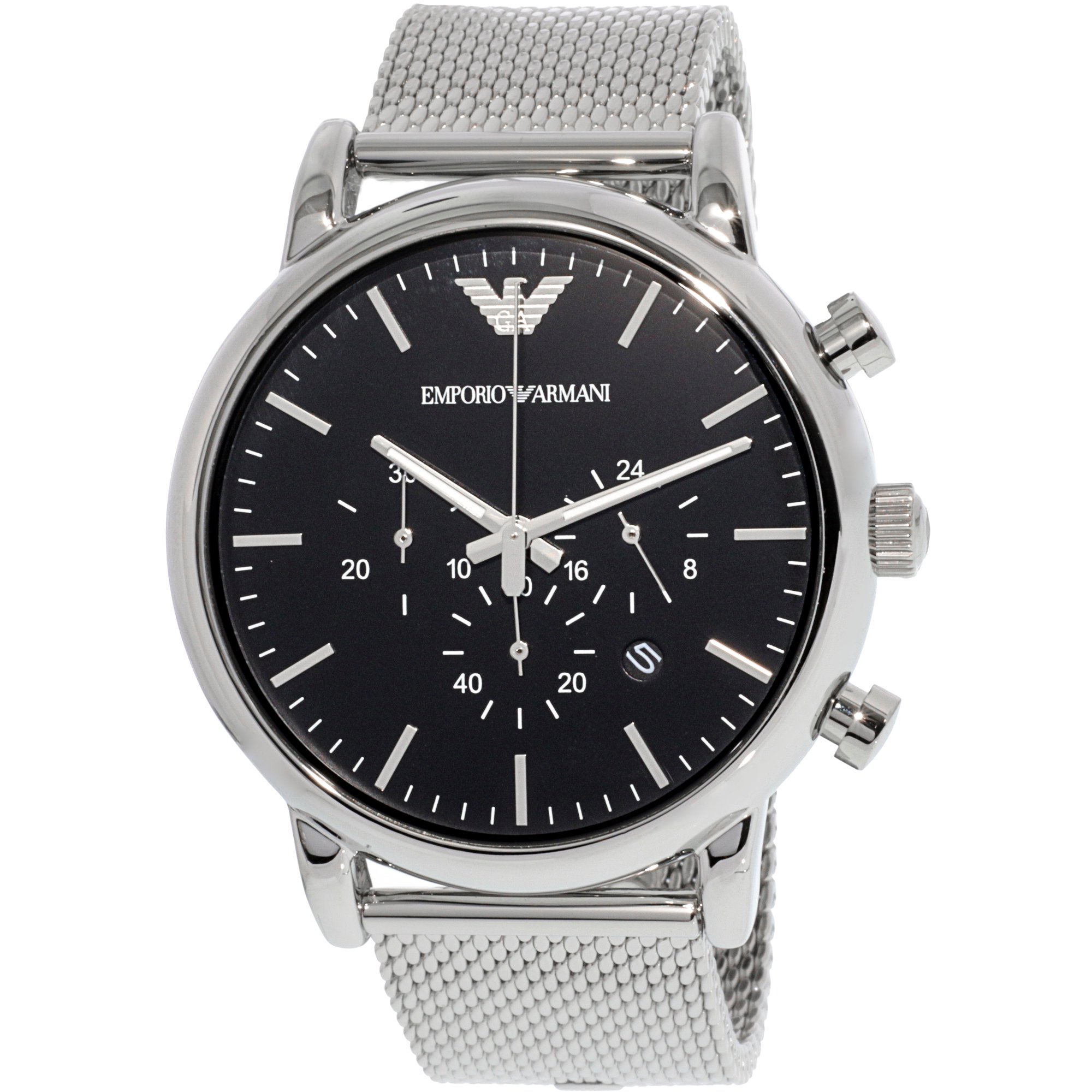 b91a76a41 Emporio Armani Men's Classic AR1808 Silver Stainless-Steel Plated Japanese  Quartz Dress Watch | Walmart Canada ?