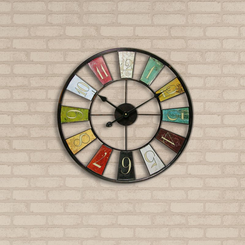 """Numerical Tiles Oversized Wall Clock - 22"""" X 34"""""""