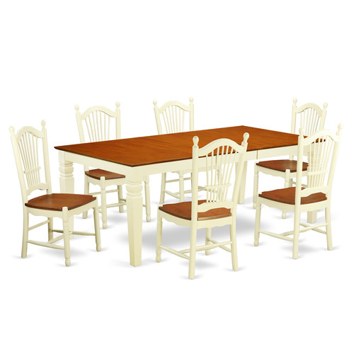 Darby Home Co Beesley 7 Piece Extendable Solid Wood Dining Set