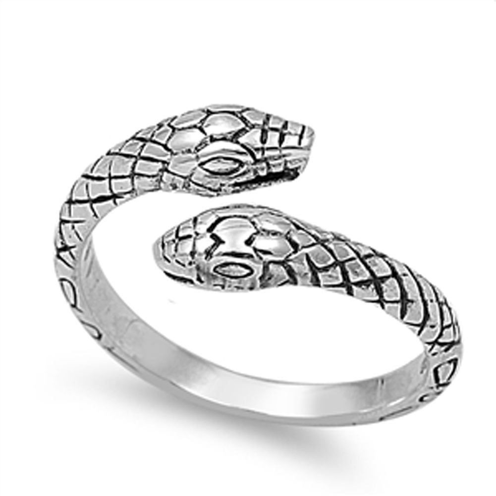 .925 Sterling Silver SNAKES DESIGN RING SIZES 4 to 12